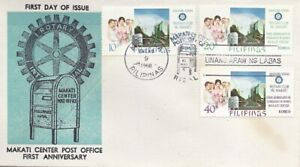 PHILIPPINES SC# 981-983 10S, 20S & 40S ROTARY CLUB FDC 1968 - Blue