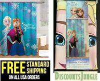 """Disney Frozen Sisters Forever BATH Shower Curtain 100% Poyester 72"""" X 72'' -NEW"""