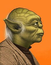 MIKE MITCHELL YODA SIGNED & NUMBERED MONDO STAR WARS PORTRAIT #691 / 1670 POSTER