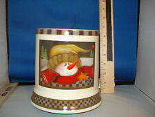 Candle Warmer Jar Electric Snowman with a Star Theme Box 255