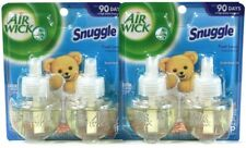 2 Packages Air Wick 1.34 Oz Snuggle Fresh Linen 2 Count Scented Oil Refills