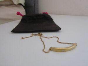 BN IN POUCH KATE SPADE GOLD set in stone enamel stone FRIENDSHIP BRACELET £45