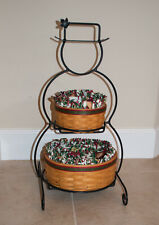Longaberger Wrought Iron Small Snowman Stand with 2000 Frosty Baskets