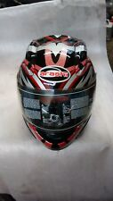 ARASHI BLADE MOTORCYCLE HELMET RED SIZE YXXL 56CMS WITH BAG  FULL FACE HELMET