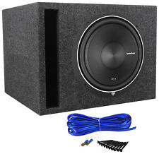 "Rockford Fosgate P1S4-12 Punch 12"" 500 Watt 4 Ohm Car Subwoofer + Vented Sub Box"