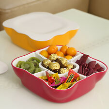 Assorted Snack Dish Serving Tray Dried Fruit Candies Bowl Appetizer Condiment
