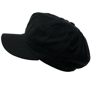 Summer 100% Cotton Plain Blank 8 Panel Newsboy Gatsby Cabbie Cap Hat