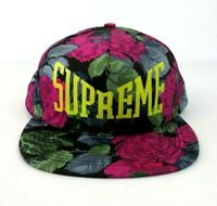 Supreme SS18 Floral 5-Panel CAP CLASSIC BOX LOGO HAT Black Flowers