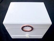 BVLGARI Jewelry Train Case Cosmetic Vanity Organizer Box White Excellently Rare