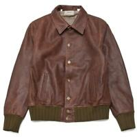 NWT Levi's Vintage Clothing LVC Strauss Leather Jacket (Made in Italy) RRP $1500