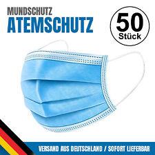 50x Mundschutz Mundschutzmaske Atemschutz Maske 3lagig Gesichtsmaske Schutzmaske