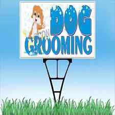 "18""x24"" DOG GROOMING Outdoor Yard Sign & Stake Sidewalk Lawn Pet Vet Haircuts"