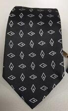 NWT Massimo Dutii Black Diamond Geometric Design Tie Silk Italy