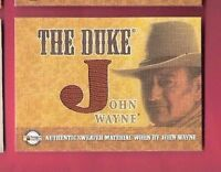 "JOHN WAYNE ""THE DUKE"" AUTHENTIC WORN SWEATER MATERIAL SWATCH RELIC CARD"