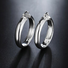 Hoop Earrings Jewelry Women Gift Sale New Fashion Silver Popular Circle 925