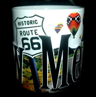 Large New Mexico 3D Coffee Cup Mug ~ Route 66 ~ Hot Air Balloons ~ Chili Peppers