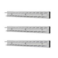 Rev-A-Shelf TRC-14CR 14 Inch Extending Tie Organization Rack, Chrome (3 Pack)