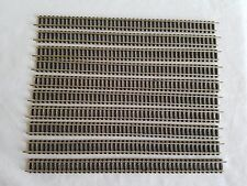 10 X FLEISCHMANN PICCOLO 9100 STRAIGHT TRACKS 222MM EXCELLENT N.GAUGE