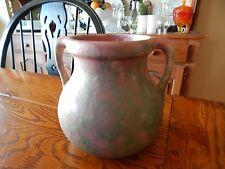 """Burley and Winter Mottled Pink Matte Glaze Urn Handle Vase #54 - 6 1/2"""" Tall"""