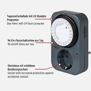 Brennenstuhl Zeitschaltuhr MZ 20, mechanische Timer-Steckdose