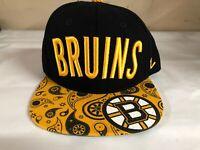 Boston Bruins NHL Zephyr Snapback Hat Cap Black/Yellow Brand New
