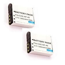 2X NP-40 NP-40DBA Batteries for Casio FC100 FC150 Z30 Z40 Z50 Z55 Z57 Z100 Z200