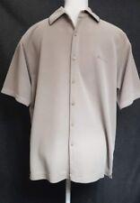 Ben Sherman Haut   taille L   beige/marron clair   T-Shirt   Boutons   manches courtes   Col
