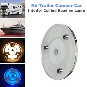 RV Trailer Camper Car Interior Reading Lamp LED Ceiling Warm White Light 12V-24V