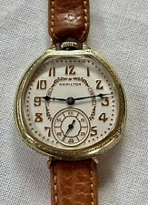 "1923 Beautiful Hamilton 912 Van Buren, ""Trench Watch"" 17j, 12s,14k GF Case, Rare"