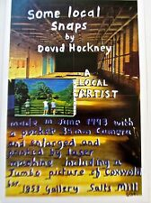 David Hockney Mini Poster Reprint for Some Local Snaps Exhibition 13x9