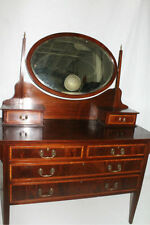 English Hepplewhite Mahogany Inlaid Princess Vanity Circa 19th