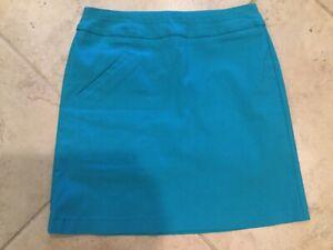 NWO JAMIE SADOCK Sz 2 golf skort w/built-in compression shorts tennis Tourquoise
