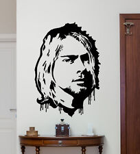 Kurt Cobain Wall Decal Nirvana Art Music Vinyl Sticker Rock Decor Mural 7sss