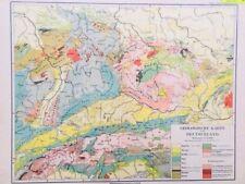 Geological Map Antique Europe Atlas Maps Ebay