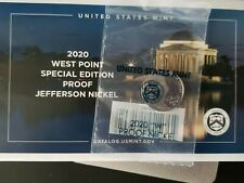 2020~W~ JEFFERSON PROOF NICKEL 5c COIN WEST POINT 5 CENTS ENVELOPE AND COA~MINT