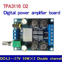 TPA3116D2 50W*2 Digital Power Amplifier Audio AMP Board Module Dual Channel GW