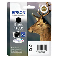Genuine Epson T1301 Stag High Capacity Ink Cartridge Black Stylus BX320 BX525 SX