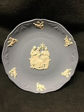 Wedgwood Jasperware - Blue Christmas Plate 1998 in Mint Condition