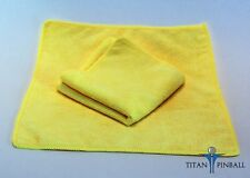 "Microfiber 12"" 300GSM Professional Pinball Playfield Cleaning Cloth - Yellow"