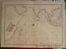 INDIAN OCEAN EAST INDIES INDOCHINA AUSTRALIA 1809 MANNEVILLETTE ANTIQUE MAP