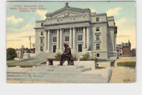 PPC POSTCARD NEW JERSEY NEWARK LINCOLN MONUMENT AND ESSEX COUNTY COURT HOUSE EXT