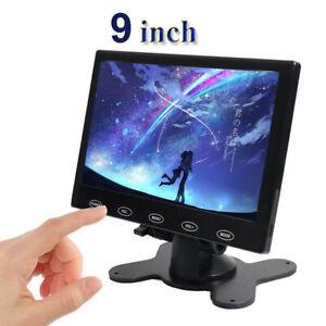 "Ultra Thin 9"" LCD Monitor Touch Button AV/VGA/HDMI for DSLR Raspberry Pi 2 3 B+"