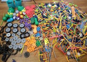 Lot Kid K'nex Building System Blocks Motors Wheels Eyes Feet Balls Tracks More