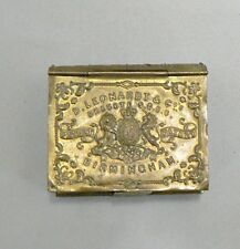 VICTORIAN ENGLISH BRASS D. L. LEONARDT & CO. BIRMINGHAM MATCH SAFE