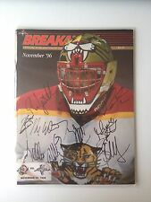BREAKAWAY 1996 official publication of the Florida Panthers, SIGNED PLAYERS PLUS