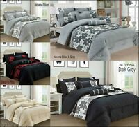 Jacquard Luxury Bedspread Throw Quilted Comforter Bedding Set Double & King Size