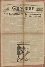 GRINGOIRE 3 LUGLIO 1942 SATIRA RENAUD HENRI BERAUD RECOULY VIGNETTE SATIRICHE