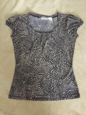 Women's - Blouse/Top - Sz Sm - Short Sleeve - Animal - Stretch -by Worthington