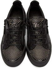 Giuseppe Zanotti Women's Black Lo Studded Sneakers, US 7