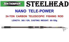 Ron Thompson Steelhead Nano 24t Carbon Tele Power Rod Telescopic Spinning Travel